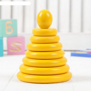 Пирамидка жёлтая, 8 деталей