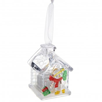 Игрушка световая домик снеговика (батарейки в комплекте) 1 led, rgb
