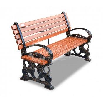 Скамейка чугунная «львы» кресло