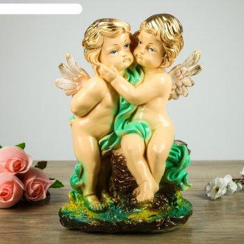 Статуэтка пара ангелов большая, цветная  27*20*36 см