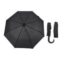 Зонт мужской, 3 сложения, r=48см, полуавтомат, чёрный