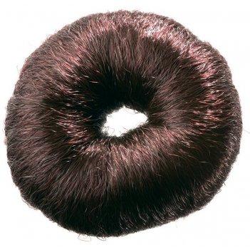 Валик ho-5115 brown  для прически, искусственный волос, коричневый d8 см