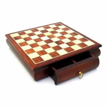 332w шахматная доска, дерево с инкруст, 33x33x7,5см