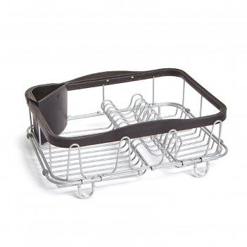 Сушилка для посуды sinkin чёрная, никель
