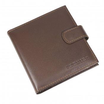 Визитница, размер 12х12,5 см, н/к, коричневый сафьян/коричневый светлый са