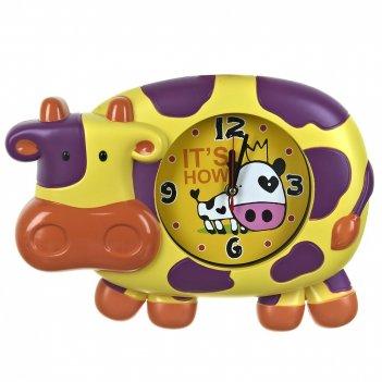 Часы настенные (с маятником) веселая корова 35,5*7,5*26см. (4в
