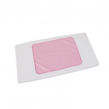 Пеленка-клеенка фея окантованная 48 х 68  см, розовая