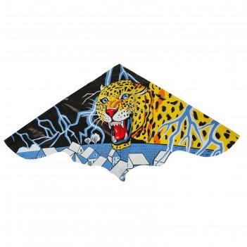 Воздушный змей леопард с леской