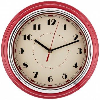 Часы настенные кварцевые lovely home 29,8*29,8*9,5 см цвет:красный (кор=6ш