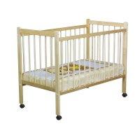 Детская кроватка колибри с колёсами, цвет берёза