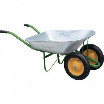 Тачка садовая, 2-х колесная, грузоподъемность 170 кг, объем 78 л