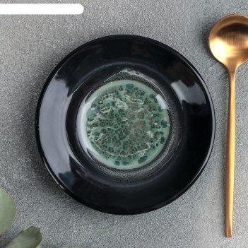 Блюдце универсальное малое «verde notte», d=10,5 см