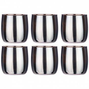 Набор стаканов из 6 шт горький шоколад 310 мл