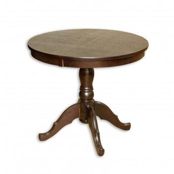 Стол раскладной круглый, 920/1270х920, шоколад