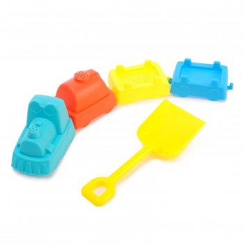 Песочный набор паровозик, 5 предметов, цвета микс