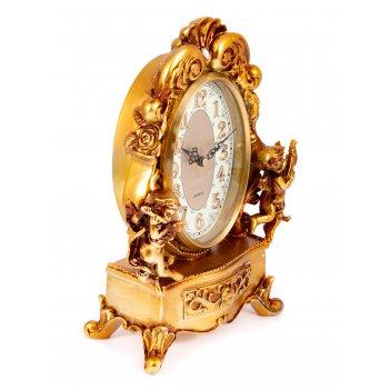 Часы каминные рококо 22*11*32см