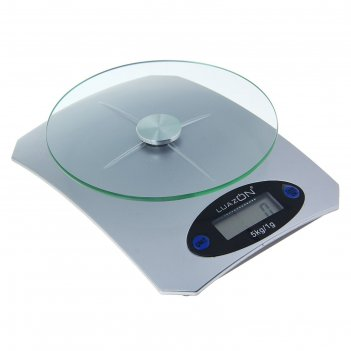 Весы электронные кухонные luazon lvk-502 до 5 кг, (1 гр), серебро