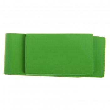 Зажим для денег прямоугольник 5,5 х 2,5см зеленый