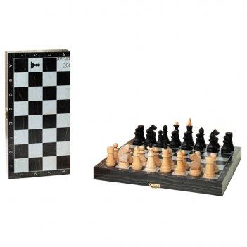 Шахматы обиходные деревянные объедовские с дорожной деревянной черной доск