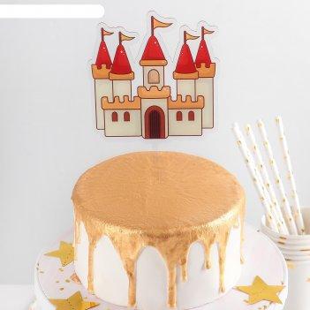 Топпер на торт 16,5х11,5 см сказочный замок