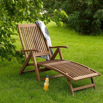 Пляжный шезлонг brafab everton, садовая мебель