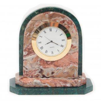 Часы овал креноид змеевик