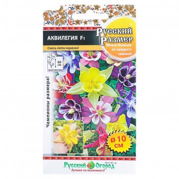 Семена цветов аквилегия серия русский размер f1 смесь, мн, 5 шт