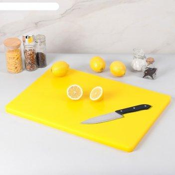 Доска разделочная, 60*40*1,8 см, желтая