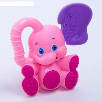 Погремушка с прорезывателем «слоник», цвета микс