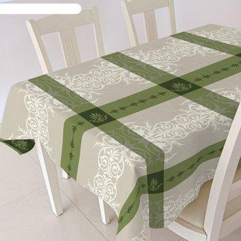 Скатерть alba анет, 120х140 см, зелёный