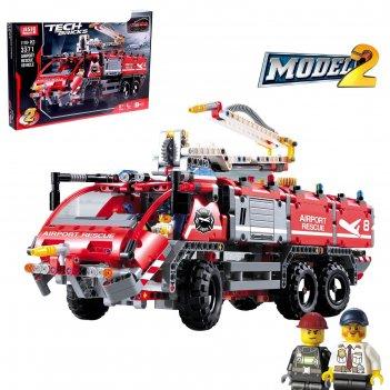 Конструктор техникс «пожарная машина», 2 варианта сборки, 1110 деталей