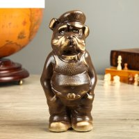 Фигура садовая собака бульдог фраер, шамот