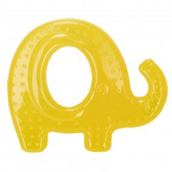 Прорезыватель для зубов baboo с охлаждающим наполнителем «слоник», микс