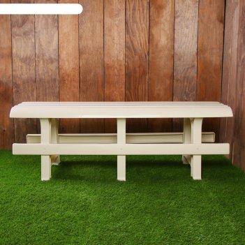 Скамья садовая без спинки люкс, 120 х 40 х 42 см, двухместная, цвет слонов