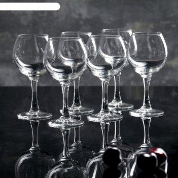Набор фужеров для вина 210 мл французский ресторанчик, 6 шт