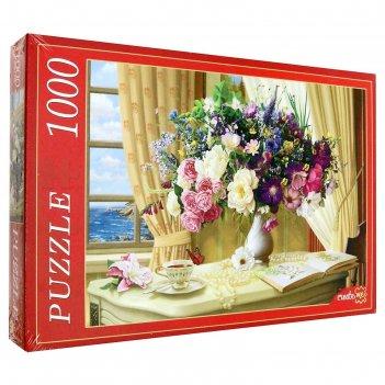 Пазл 1000 эл. цветочный натюрморт у окна ф1000-6810
