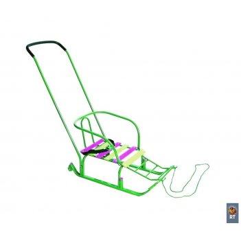 Санки «считалочка» девятка с колесиками — зеленые