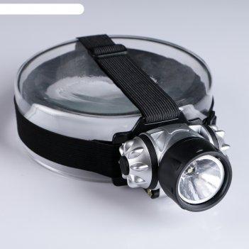 Фонарик налобный мастер к., 1  led, рассеиватель, серебристо-чёрный