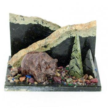 Мини-набор мишка камень змеевик