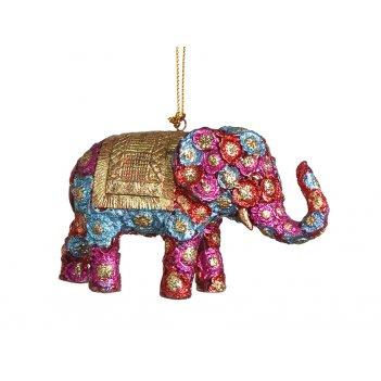 Елочная игрушка слон 12 см. без упак.