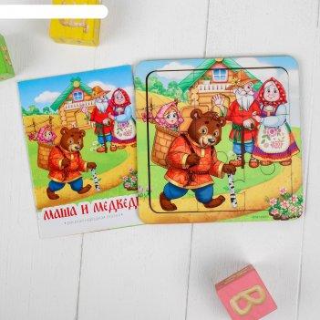Дидактические игры и материалы пазл со сказкой маша и медведь, п203
