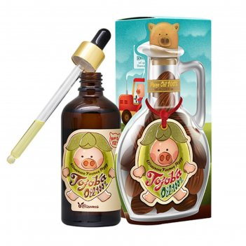 Масло elizavecca farmer piggy jojoba oil 100% для лица, тела и волос с мас