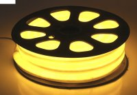 Гибкий неон, 12*24мм, 20 м, led/м-80-220v, желтый