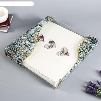 Фотоальбом магнитный 30 листов с сердечками  31х32 см