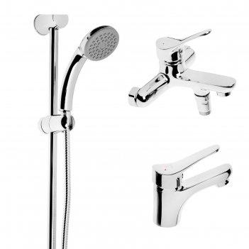 Набор смесителей sonas sh435-15, 3 в 1, для раковины, для ванны, душевая с