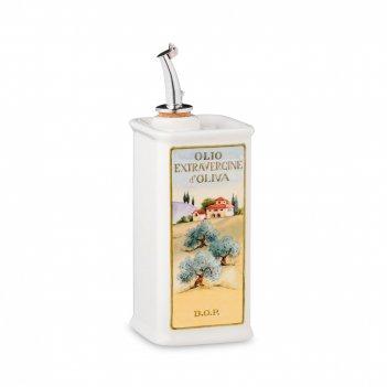Бутылка для масла, размер: 20 х 7 см,  объем: 0,25 л,  материал: керамика,