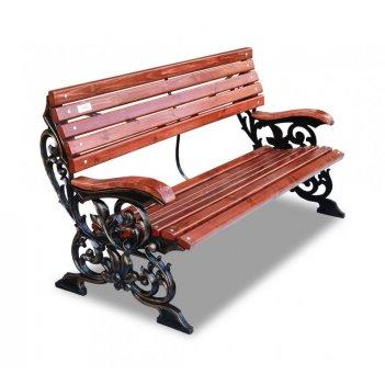 Скамейка чугунная «флора» кресло