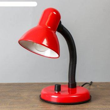 Настольная лампа с роликом, красная