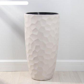 Кашпо со вставкой idea «мозаика», 19,5 л, вставка 9 л, цвет кремовый