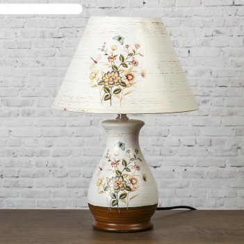 Лампа настольная керамика сказка е14 25w 220в 36,5х25х25 см